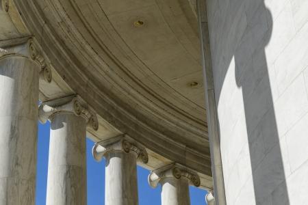 light columns: Columns of Jefferson Memorial