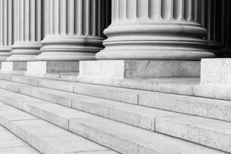 lawyers: Pillars Black and White Stock Photo