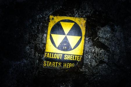 under fire: Fallout Shelter Underground Foto de archivo