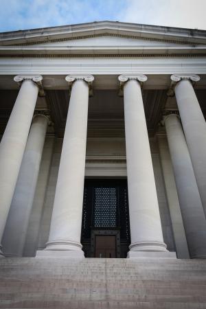 Pillars Steps and Door