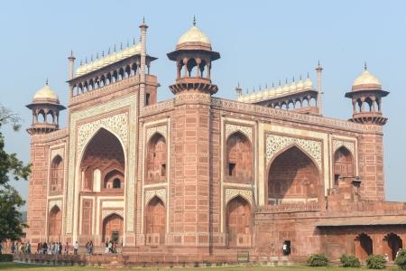 Entrance into the Taj Mahal