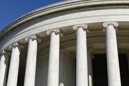 neo classical: Jefferson Memorial Pillars in Washington DC