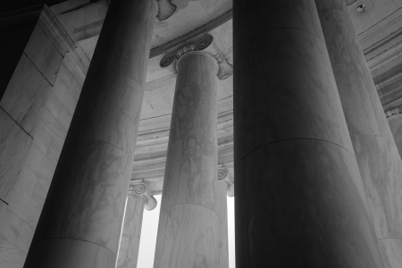 Stone Pillars in Black and White
