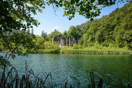 Waterfall in Plitvice National Park in Croatia Stock Photo - 21052750