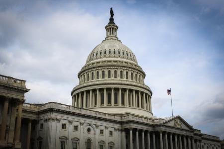 Bouw van Capitol Hill in Washington DC Stockfoto - 21052755