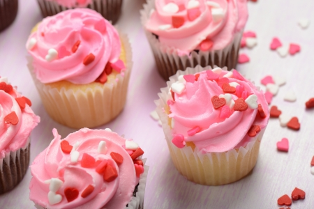 christmas baker's: Pink Cupcakes Close Up
