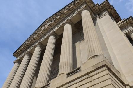 public library: Pillars or Columns Blue Sky