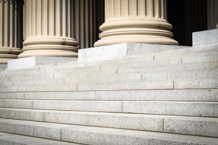 Pillars and Steps Stock Photo