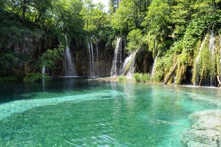 Waterfalls at Plitvice National Park in Croatia photo