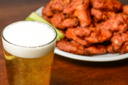 Bier en Buffalo Wings