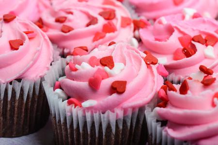 Pink Cupcakes 免版税图像