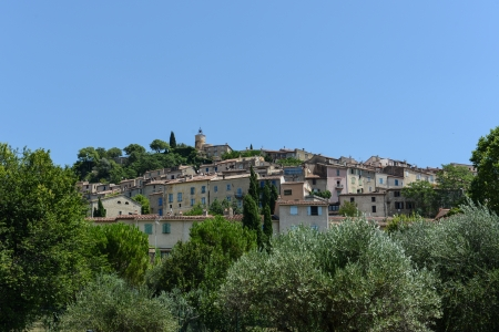 pays: Medieval Village of Fayence in France Stock Photo