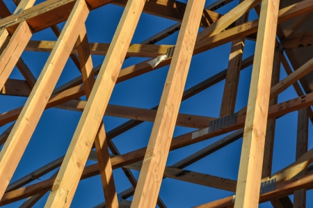 2x4 wood: Construction Wood Beams Close Up