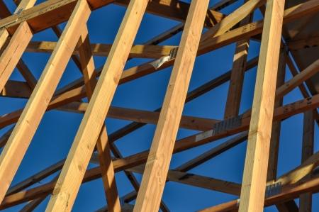 Construction Wood Beams Close Up