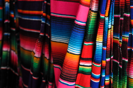 multi coloured: Mayan Blankets for Sale in Mexico