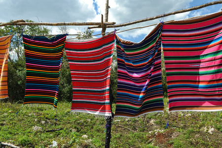 Mayan Blankets for Sale in Mexico photo