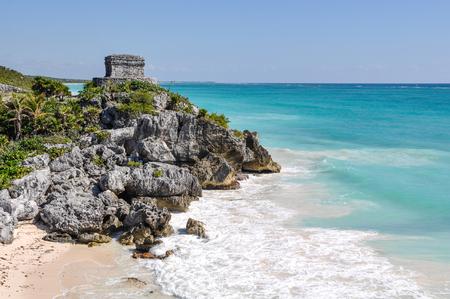 tulum: Tulum Mayan Ruins Stock Photo