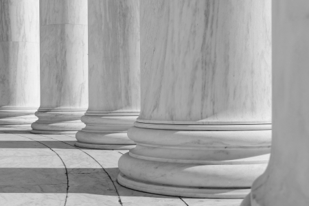 courthouse: Black and White Pillars