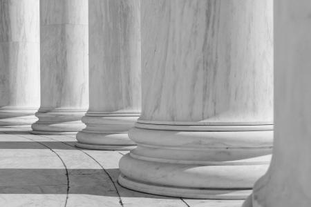 neo classical: Black and White Pillars