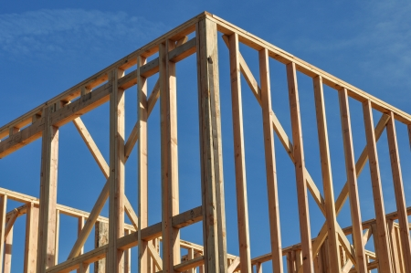 wooden joists: Home Under Construction