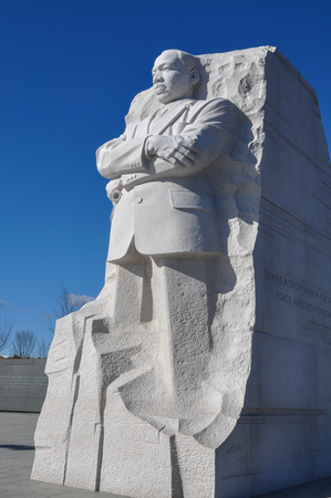 assassinated: WASHINGTON, DC - AUGUST 20: Memorial to Dr. Martin Luther King on August 20, 2012. The memorial is Americas 395th national park.