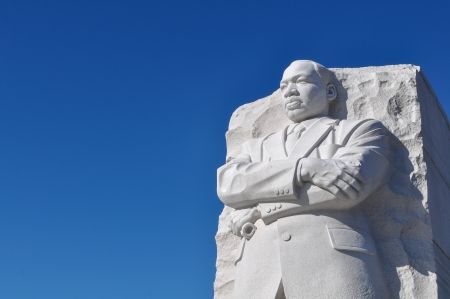 WASHINGTON, DC - AUGUST 20: Memorial to Dr. Martin Luther King on August 20, 2012. The memorial is America's 395th national park. Editorial
