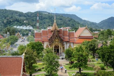 phuket province: Wat Chalong in Phuket Thailand Stock Photo