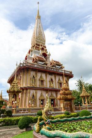 chalong: Wat Chalong in Phuket Thailand Stock Photo