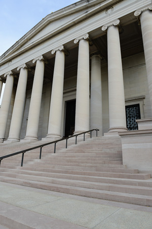 Pillars and Steps of a Courthouse Building photo
