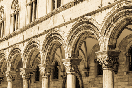 architectural heritage: Gothic Stone Pillars