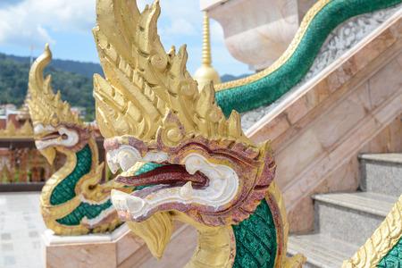 Dragons at Chalong Temple in Phuket Thailand