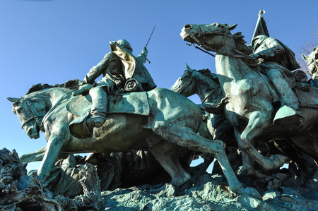 Civil War Statue in Washington DC photo