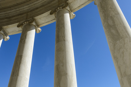 Pillars with Blue Sky photo