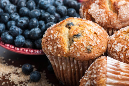 baked goods: Blueberry Muffins