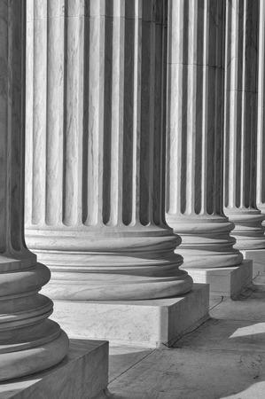 Säulen des Recht und Informationen am Obersten Gerichtshof Vereinigten Staaten