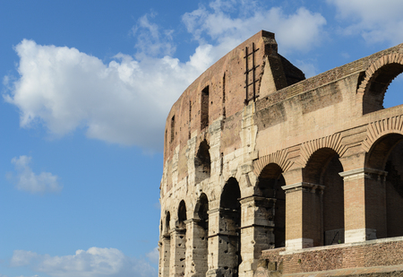 ancient Colosseum in Rome, Italy photo