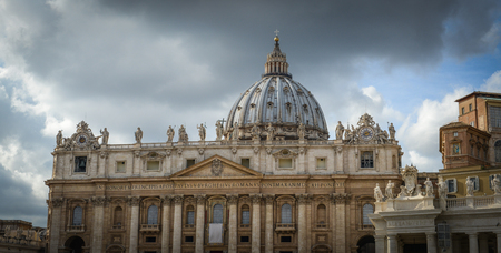 basilica of saint peter: The Papal Basilica of Saint Peter in the Vatican (Basilica Papale di San Pietro in Vaticano), commonly known as Saint Peters Basilica located within Vatican City in Rome, Italy
