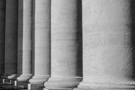 basillica: Pillars at the Vatican Stock Photo