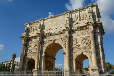 commemorate: Arch of Constantine, Rome, Italy. Built to commemorate the emperors victory over his rival Maxentius in AD 312.