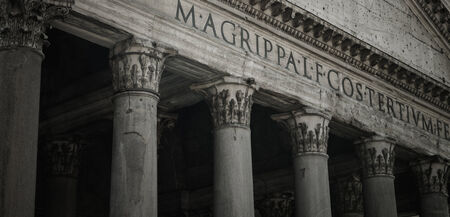 derecho romano: Panteón de Agripa Pilares en Roma, Italia Editorial