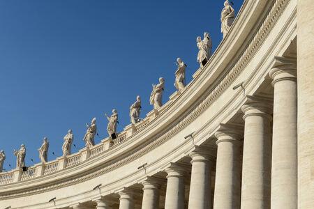 Sculptures of saints in Vatican, Rome, Italy
