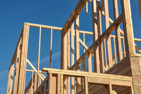 residential construction: New Home Under Construction
