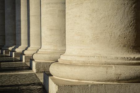 basillica: Pillars at the Vatican Editorial