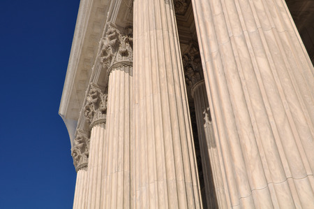 neo classical: Pillars of Law and Justice located at the Supreme Court of the United States of America