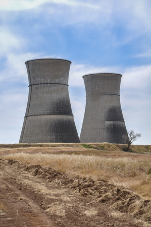 nuke plant: Rancho Seco nuclear power plant cooling towers