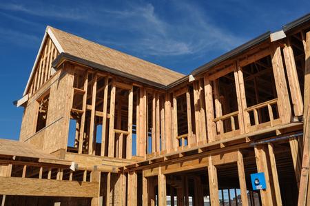 Nieuw huis in aanbouw