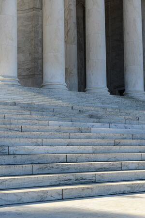 neo classical: Pillars and Stairs Stock Photo