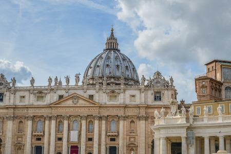 The Papal Basilica of in the Vatican (Basilica Papale di San Pietro in Vaticano), commonly known as Saint Peters Basilica located within Vatican City in Rome, Italy