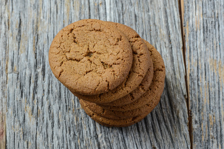 sweet sugar snap: Gingersnap cookies for Christmas Stock Photo