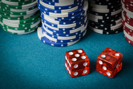 red dice: Red Dice and Playing Chips